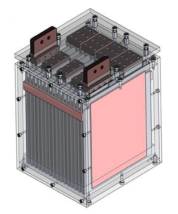 CAD drawing of a 16 cell module