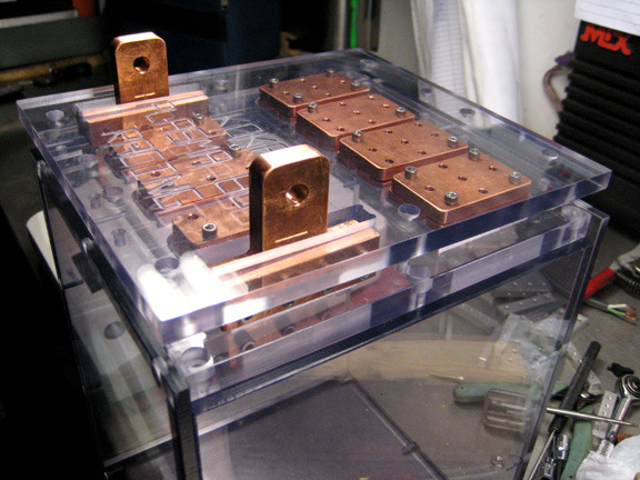 An assembled module top