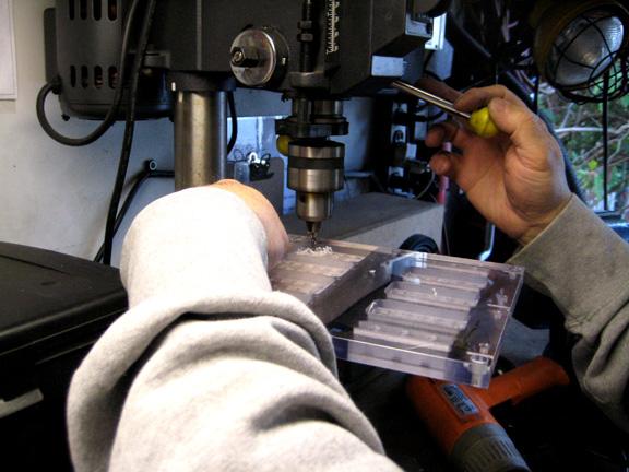 Enlarging the screw holes