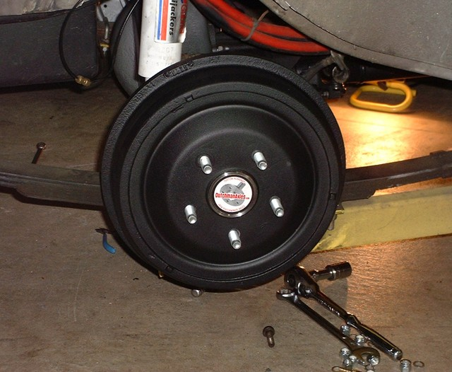 Large Ford drums detailed and painted.