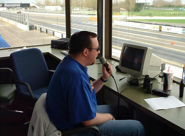 PIR's Track Announcer, Dan Bullis