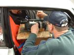Greg Douglas Secures the Car-cam
